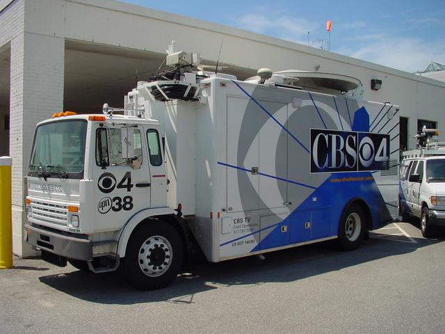 WBZ-TV satellite truck
